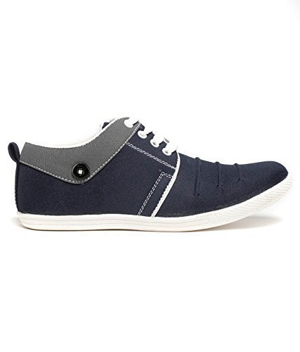 SHOES T20- Men's casual Grey & Purple Synthetic Low Top Sneakers Shoes-7