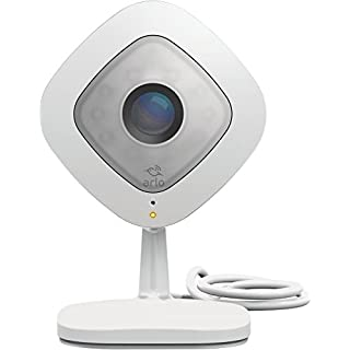 Arlo Q Smart Home 1080p Full HD Security Camera, Night Vision and Full 2-Way Audio, Works with Amazon Alexa, White (VMC3040)