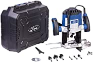 Ford 1200 Watts 8-6mm Electric Router, Corded Electric Variable Speed Fix Base Plunge Router with Adjustable D