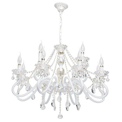 Kronleuchter Glas kronleuchter klassisch glas metall weiß und goldfarbig 12 armig
