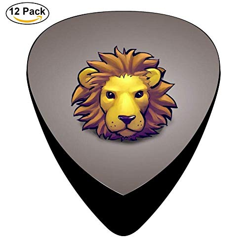 Lion Head Celluloid Electric Guitar Picks 12-pack Plectrums For Bass Music Tool -