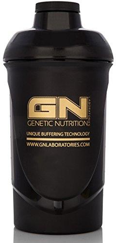 GN Laboratories Wave Shaker Proteinshaker Eiweiß Protein Shaker Schwarz 600ml Fassungsvermögen