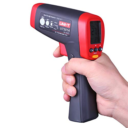 Jklnm Non Contact Digital Infrared Thermometer -18C~550℃/0F~1022F with Adjustable Emissivity Max/Min Data Hold LCD Hintergrund Beleuchtbares Display Adjustable Emissivity Für Die Industrie Home Use