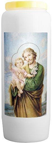 CHRIST-en-or : Novene Kerze - Heiliger Josef fürsorglicher Beschützer der heiligen Familie - Brennt 9 Tage, 100% pflanzlich (Lass Die Kirche Die Kirche Sein)