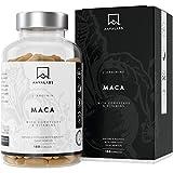 Maca L - Arginina [5600 mg] Cordyceps, Estratto di Acerola con Vitamina B6, B12 e Zinco per Dose Giornaliera - 100% Vegano - Testato in Laboratorio - Prodotto in UE - 180 capsule