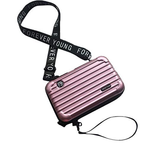 Handtasche Fall (chenpaif Mode Koffer Box Form Armband Crossbody Handtasche Umhängetasche für Frauen Lagerung Kosmetik Fall Rose Gold)
