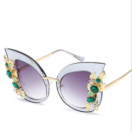 Persönlichkeit Rahmen Mode Cat Eye Sonnenbrille New Trend Big Frame Sonnenbrille Damen Sonnenbrille, blau