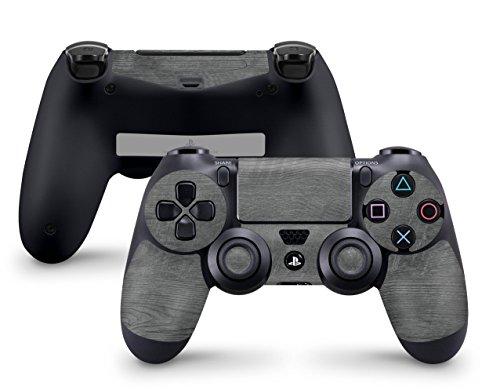 Skins4u Sony Playstation 4 Skin PS4 Controller Skins Design Sticker Aufkleber Styling Set auch für Slim & Pro - Holz Design Black Woodgrain