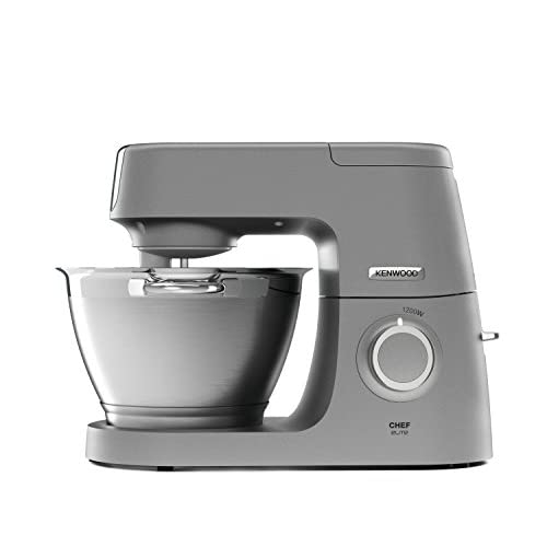 41BMgSNzIKL. SS500  - Kenwood Chef Elite KVC5100 Stand Mixer - Powerful food mixer in silver, with K-beater, dough hook, whisk and 4.6L bowl, 1200w.