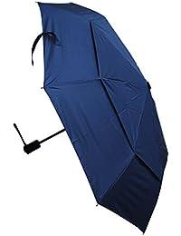 C&C LONDON - Paraguas Compacto - RESISTENTE Al Viento - Toldo Ventilado - ALTA TECNOLOGÍA PARA COMBATIR POSIBLES DAÑOS - Apertura y Cierre Automático - Pequeño - Plegable - Toldo Azul Marino - Viaje