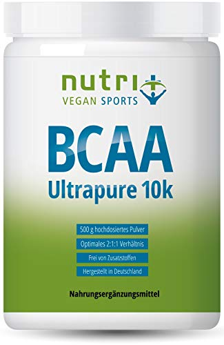 BCAA PULVER Neutral - HÖCHSTDOSIERTE BCAAS auf dem Markt - 500g ohne Süßstoff - 2:1:1 ULTRAPURE - vegan powder unflavoured - 100% essentielle Aminosäuren ohne Zusatzstoffe