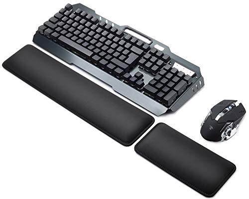 Sidorenko Handballenauflage Set für Tastatur und Maus - Hochwertige und Bequeme Handauflage - Schonende Handgelenkauflage, Wrist Rest