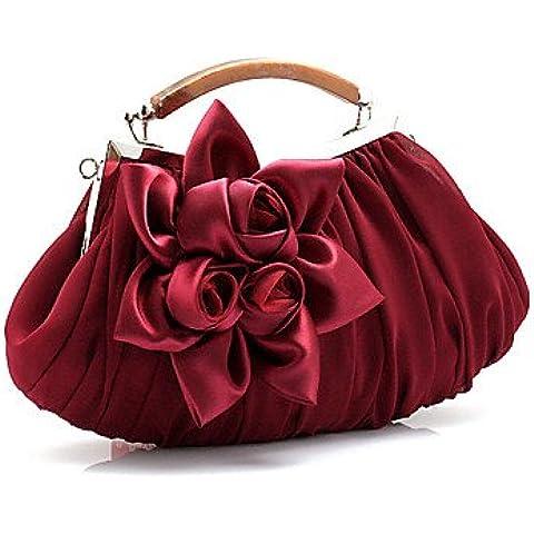Da Wu Jia Ladies borsetta di alta qualità delle donne di lusso in chiffon dolce Moda/ Satin formale / evento/parte / Matrimoni Borsa serale , Mandorla
