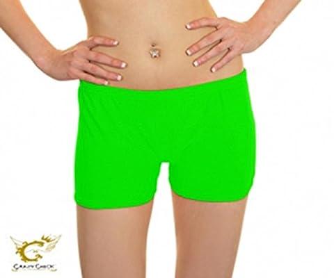 Pour femmes filles Crazy Chick Short stretch-Short large choix de couleurs et de tailles