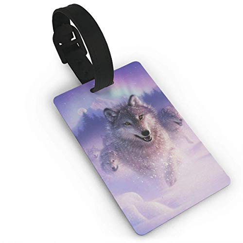 Arctic Wolf Delicate Printing ID Label Travel Luggage Tags Suitcase Baggage Handbag