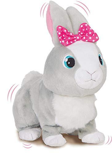 IMC Toys Betsy Club Petz Coniglietta Paurosa, Colore Grey, 95861IM3 (Lingua Italiana)