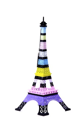 Merci Gustave ORIM0206 Tour Eiffel originale Métal Bayadère 13,5 x 13,5 x 31,5 cm