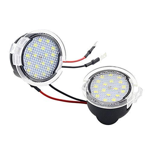 KKmoon Luce Specchietto Retrovisore, 2 Pieces 18 Luci LED sotto Specchietto Adatto per Ford Mondeo S-Max Edge Explorer F-150
