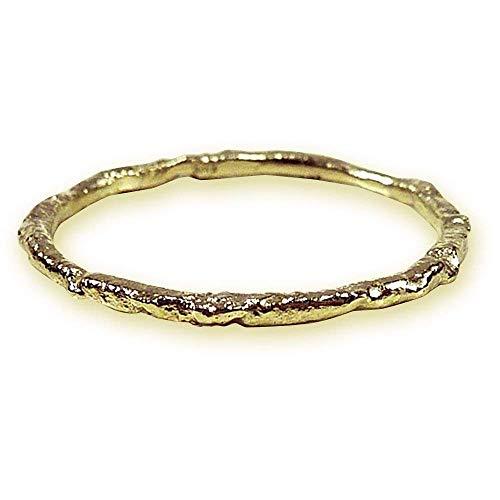 Goldring zart handgemachte Struktur Vorsteckring - handgefertigt by SILVERLOUNGE