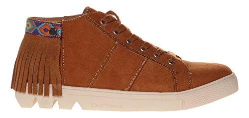 Chattawak Donna Bianca Alta Sneaker Marrone
