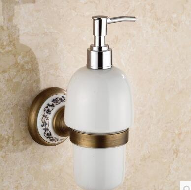 SQL Alle Kupfer Bad Toilette Continental antikes Porzellan Hand Sanitizer Seifenspender Flasche Gold