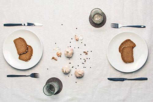Smacc Filzuntersetzer, rund 8er Set (Farbe wählbar) – Glasuntersetzer aus 100% Wollfilz, Untersetzer für Bar und Tisch Einrichtungsideen als Tischdeko (Grau)