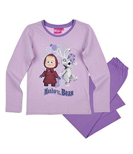 Masha e orso ragazze pigiama - viola - 128