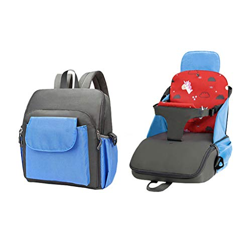 W-SHYP Multifunktions-Mumabeutel, Travel Booster-Sitz Faltbar - Ideal Für Reisen - Blau, Orange, Rot (Farbe : Blau)