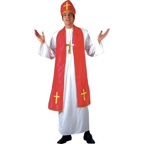 Cardinal Herren Kostüm - HOLY CARDINAL - MONK ADULT COSTUME FANCY DRESS UP PARTY