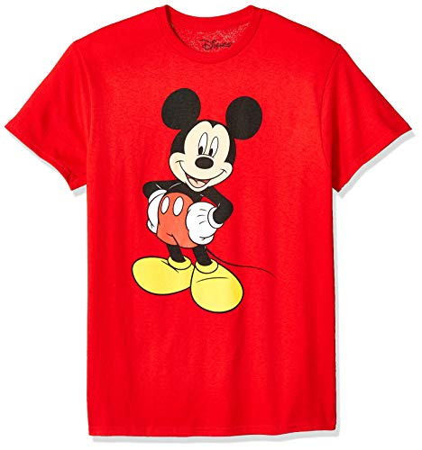 Disney Herren Classic Mickey Mouse Full Size Graphic Short Sleeve T-Shirt, rot, XX-Large