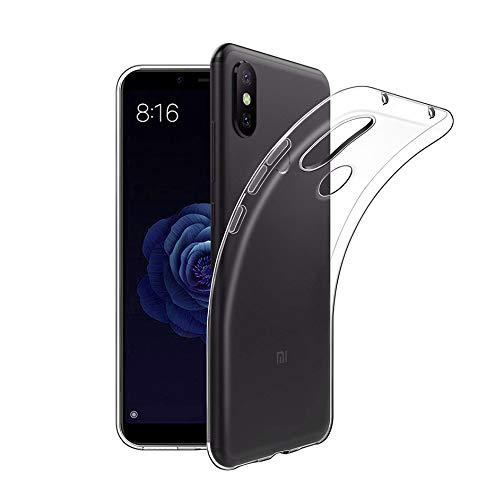 Funda Xiaomi Mi A2 Lite, Carcasa Xiaomi Mi A2 Lite TPU Funda Anti-Rasguño Anti-Golpes Cover Protectora TPU Caso Bumper Slim Silicona Case Para Xiaomi A2 Lite Protectora Funda - Transparente