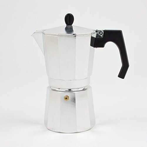 Tivoli Moka Kaffeebereiter / aus Aluminium / Bis 9 Tassen Kaffee / Silberfarbig / Einfache Zubereitung