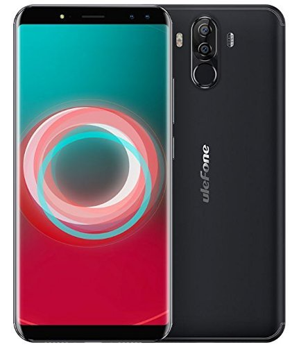 Ulefone Power 3s - 6.0 Pulgadas FHD (relación 18: 9) Corning Gorilla Glass 4 Android Smartphone, Octa Core 2.0GHz 4GB + 64GB, Reconocimiento Facial, Cámaras cuádruples Batería 6350mAh - Negro
