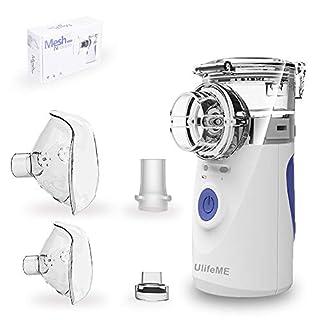 Inhalator Vernebler für Kinder und Erwachsenen, UlifeME Tragbares Vernebler Set mit Maske und Mundstück, Inhaliergerät für Asthma und Andere Atemwegserkrankungen, USB Verbindung und CE Zertifiziertes