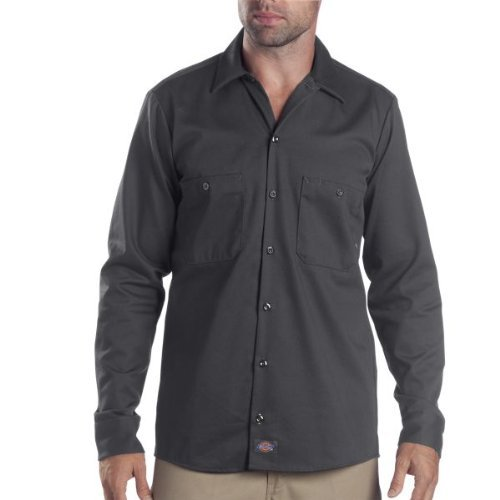 Graphit Langarm-shirt (Dickies LL535 - Industrie-Langarm Shirt Work, Medium Tall, Graphite Gray)