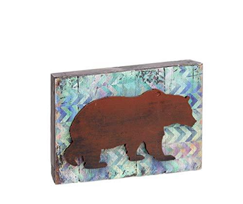 aMonogram Unlimited Primitive Box Schild mit Tierausschnitt Country Rustic 8