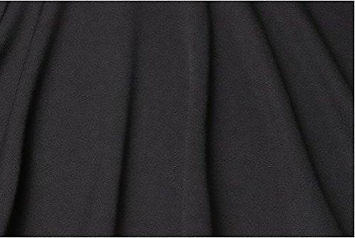 Donna Tailleur Elegante Blazer A Pieghe Manica Lunga Pulsante Ufficio Slim Taglie Forti Casual Puro Colore Formale Giubbotto Autunno Moda Bolero Nero
