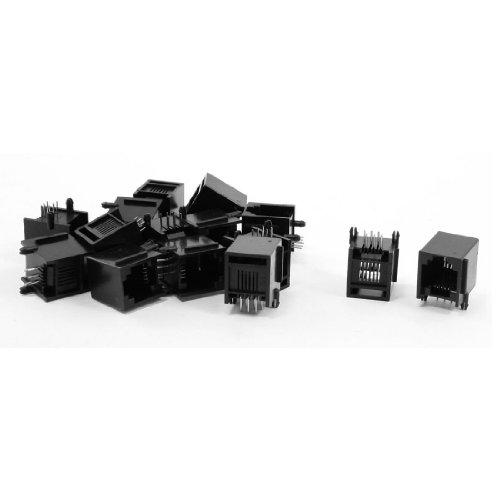 Sourcingmap® 15 Stücke RJ12 6P6C 15 x 12 x 14 mm Klinke Buchse ADSL Netzwerk de - Rj12-buchse