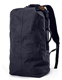 WOMJIA 40L Vintage Voyage sac sac de sport weekender bagage à main de sac de toile en toile Sac en bandoulière Gris