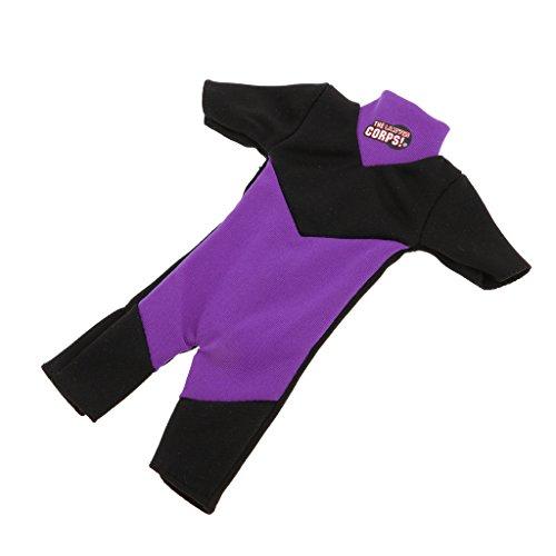 D DOLITY 1/6 Soldat Puppen Kleidung - Mini Taucheranzug Neoprenanzug Tauchen Badeanzug - Lila