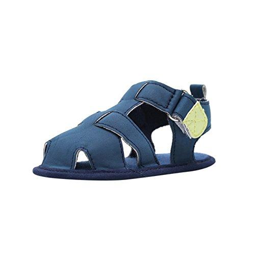 MiyaSudy Neugeborenes Baby Jungen Sandalen Sommer Outdoor Schuhe Weiche Alleinige Erste Wanderer 0-18 Monate Blau