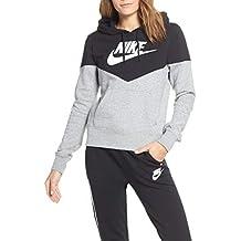 promo code 95f45 50096 Nike W NSW Hrtg Hoodie FLC Sweat-Shirt Femme