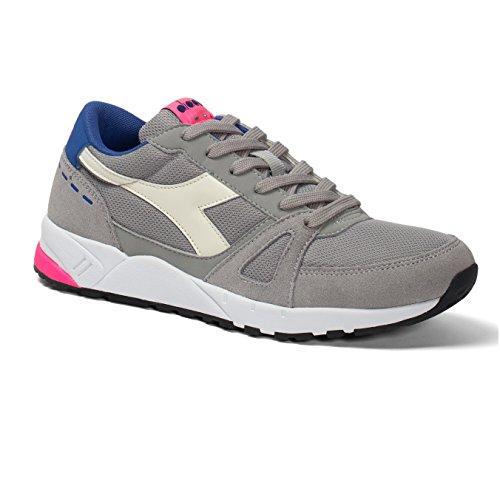 Diadora Run 90, Sneaker a Collo Basso Unisex – Adulto C6491 GRIGIO/ROSA