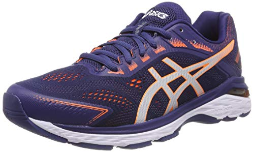 ASICS Herren GT-2000 7 Laufschuhe, Blau (Indigo Blue/Shocking Orange 400), 44.5 EU