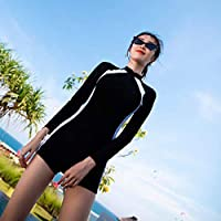 Stocking Lying Swimwear Ms, 2018 The New Profession Movement Siamés Ángulo Plano Conservador Thin Cover Vientre Buceo Manga Larga Traje de baño Caliente