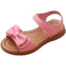 Zapatos Niña,Sandalias de bowknot para niñas pequeñas Calzado casual de princesa antideslizante ...