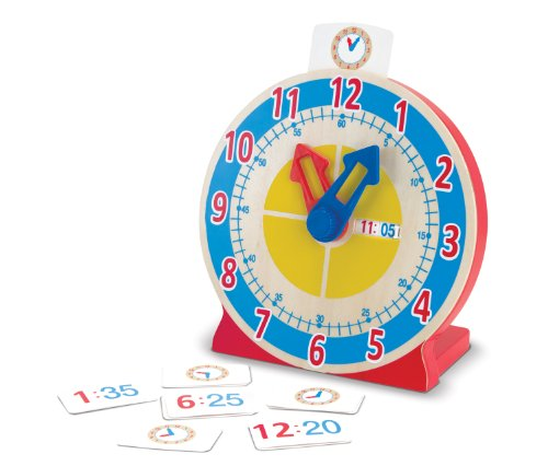 Melissa & doug- turn & tell orologio in legno, multicolore, 4284