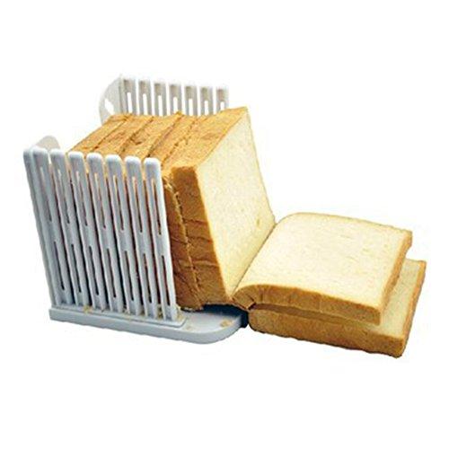 RUSTO Weihpe Brotschneidehilfe Hoch Qualität ABS Material Brotschneider Manuell für Selbstgemachtes Brot Toast Sandwich Laib Kuchen Klappbar Slicer Brotschneider