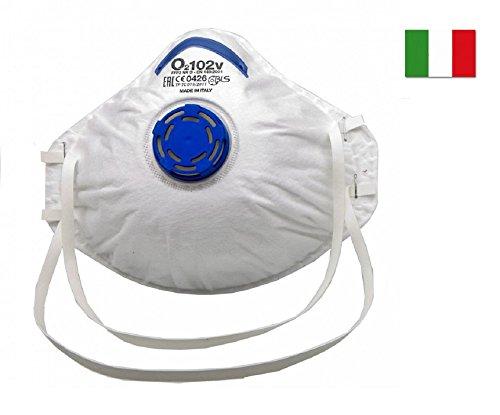 20 Mascherine antipolvere BLS protettive FFP2 con valvola EN 149:2001+A1:2009 Made in Italy