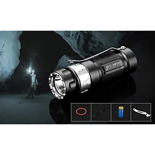 TianranRT JETBeam JET RRT-01 2019 XP-L LED Taschenlampe Blendung Taktisch Überleben Taschenlampe (Musik-jet)